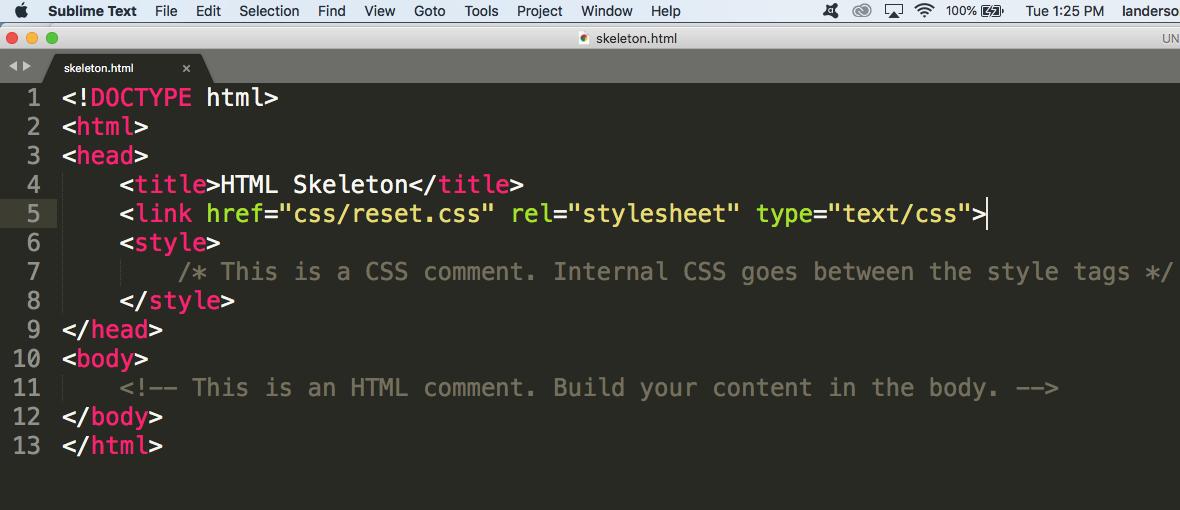 Intro to Web Design | Anderson